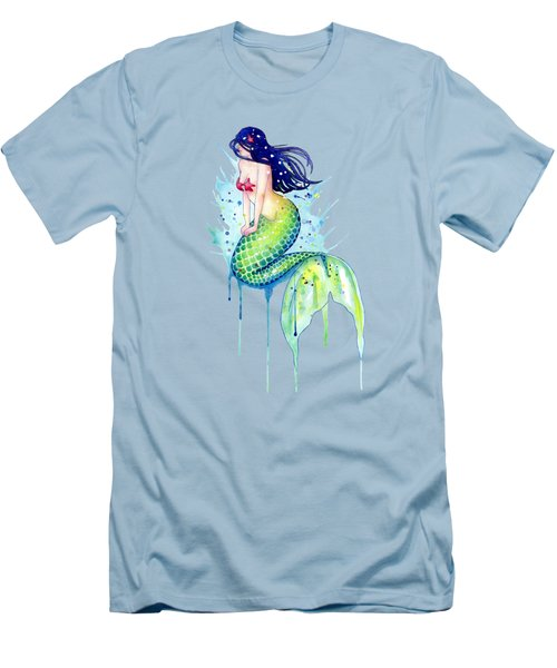 Mermaid Splash Men's T-Shirt (Slim Fit) by Sam Nagel