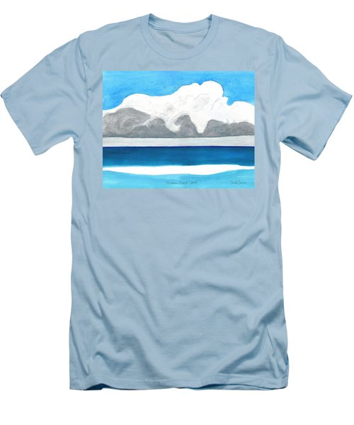 Miami Beach, Florida Men's T-Shirt (Slim Fit) by Dick Sauer