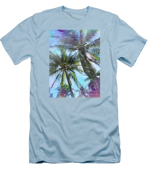 Men's T-Shirt (Slim Fit) featuring the photograph Miami Palm Trees by France Laliberte
