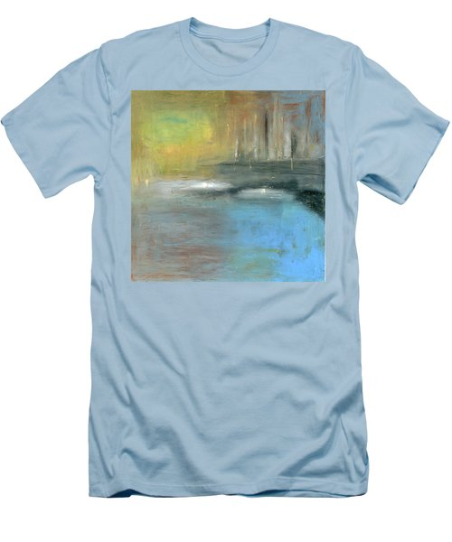 Men's T-Shirt (Slim Fit) featuring the painting Mid-summer Glow by Michal Mitak Mahgerefteh