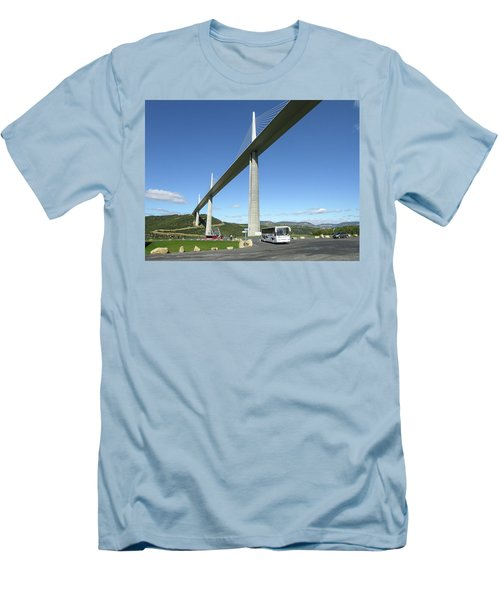 Millau Viaduct Men's T-Shirt (Slim Fit) by Jim Mathis