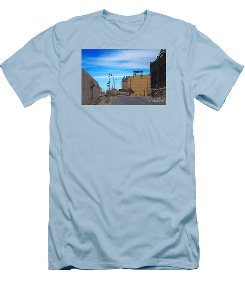 Men's T-Shirt (Slim Fit) featuring the digital art Milwaukee Cold Storage Co by David Blank