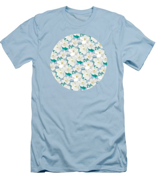 Mint Magnolias Men's T-Shirt (Athletic Fit)