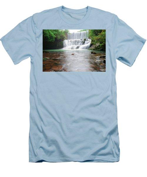 Mirror Lake Falls 2 Men's T-Shirt (Slim Fit) by Renee Hardison