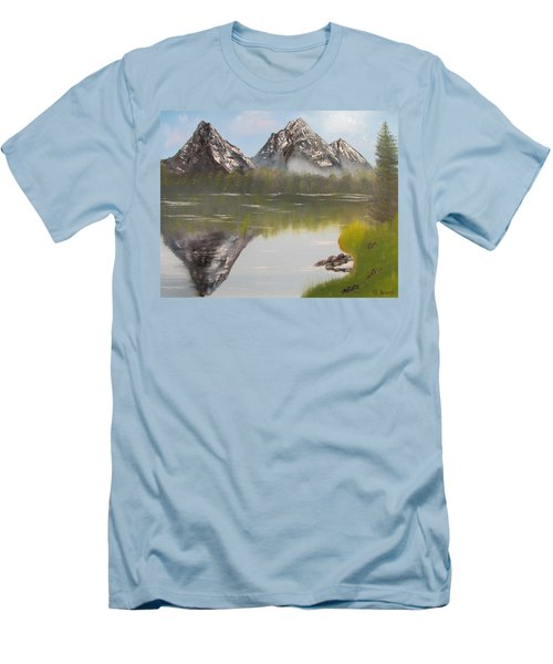 Mirror Mountain Men's T-Shirt (Slim Fit) by Thomas Janos
