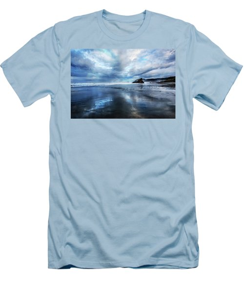 Men's T-Shirt (Slim Fit) featuring the photograph Mirror Of Light by Debra and Dave Vanderlaan