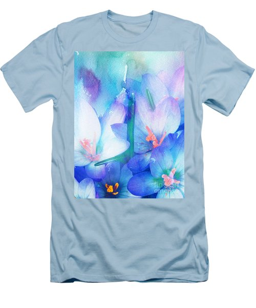 Men's T-Shirt (Slim Fit) featuring the digital art Mirthfulness by Klara Acel