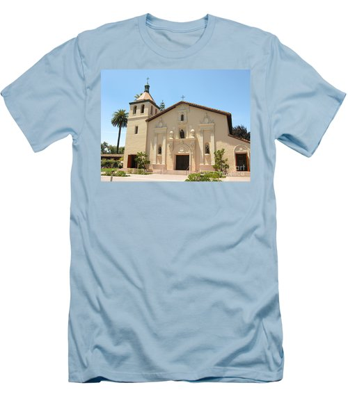 Mission Santa Clara Men's T-Shirt (Slim Fit) by Mini Arora