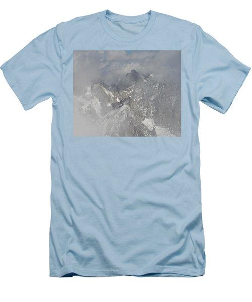Mist At Aiguille Du Midi Men's T-Shirt (Athletic Fit)