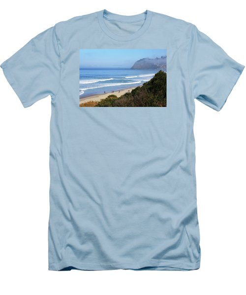 Misty Beach Morning Men's T-Shirt (Athletic Fit)