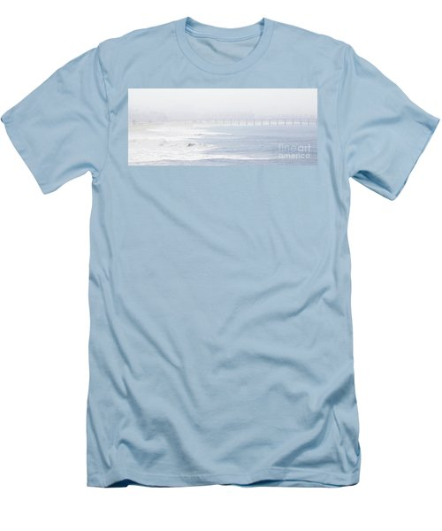 Misty Beach Morning  Men's T-Shirt (Slim Fit) by Nicholas Burningham