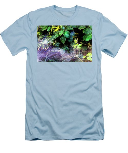 Misty Branches Men's T-Shirt (Slim Fit) by Deborah Nakano