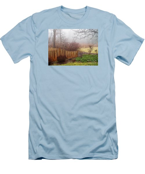 Men's T-Shirt (Slim Fit) featuring the photograph Misty Morn by Betsy Zimmerli