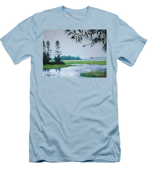 Misty Morning Men's T-Shirt (Slim Fit) by Stanton Allaben