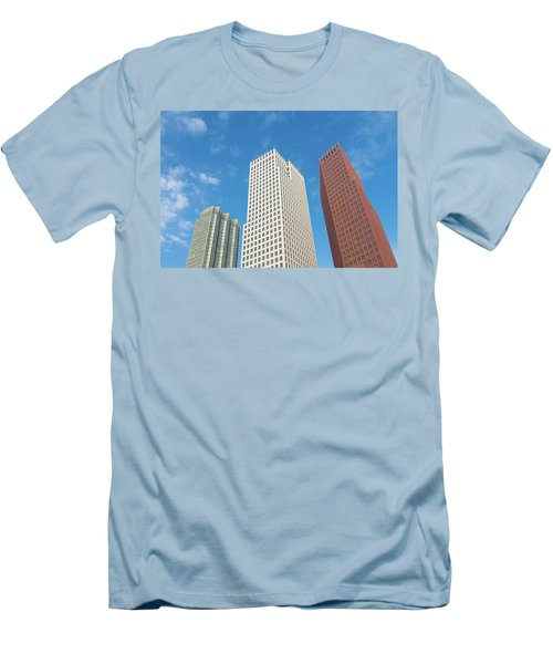 Men's T-Shirt (Slim Fit) featuring the photograph Modern Skyscrapers by Hans Engbers