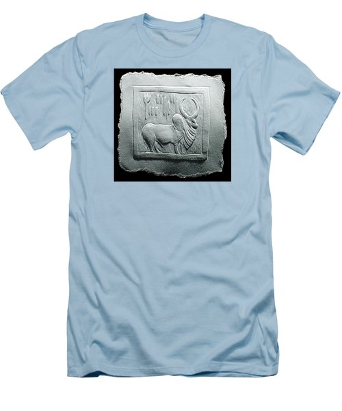 Mohenjodaro Seal Relief Drawing Men's T-Shirt (Slim Fit) by Suhas Tavkar