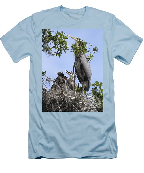 Mom And Babies Men's T-Shirt (Slim Fit) by Deborah Benoit