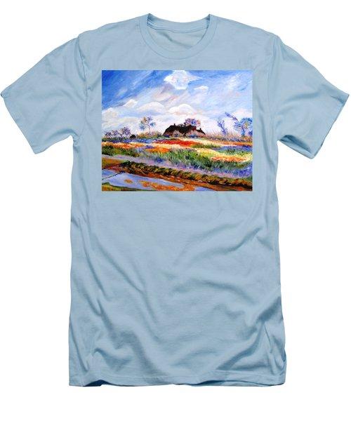 Monet's Tulips Men's T-Shirt (Slim Fit) by Jamie Frier