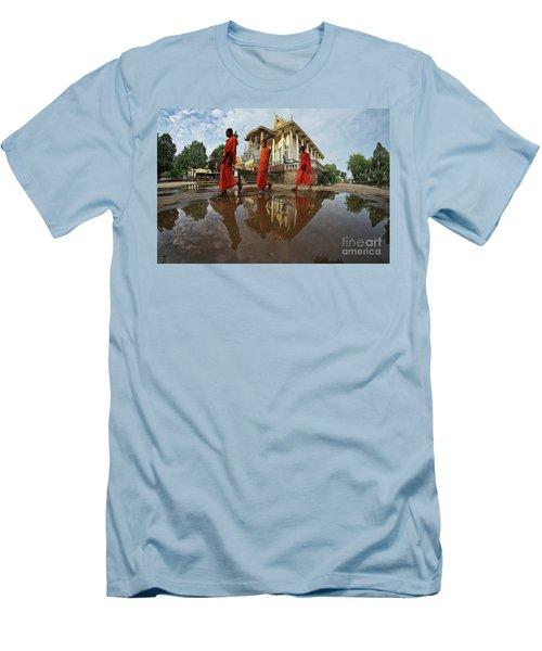 Monk Back Home Men's T-Shirt (Athletic Fit)