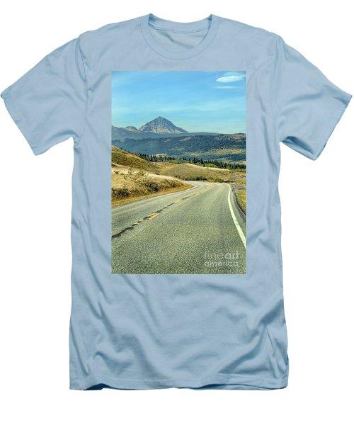 Men's T-Shirt (Slim Fit) featuring the photograph Montana Road by Jill Battaglia