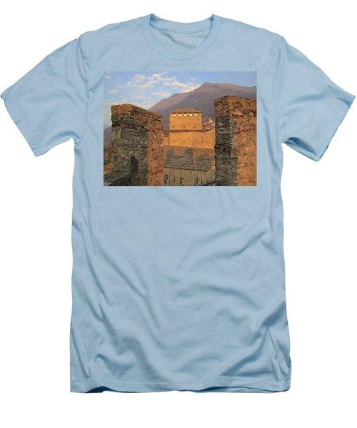 Montebello - Bellinzona, Switzerland Men's T-Shirt (Slim Fit) by Travel Pics