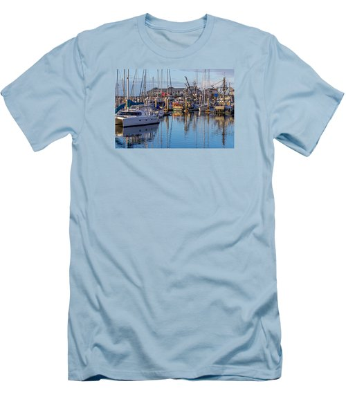Monterey Marina Afternoon Men's T-Shirt (Slim Fit) by Derek Dean