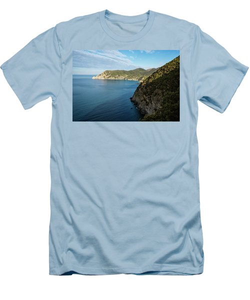 Monterosso And The Cinque Terre Coast Men's T-Shirt (Athletic Fit)