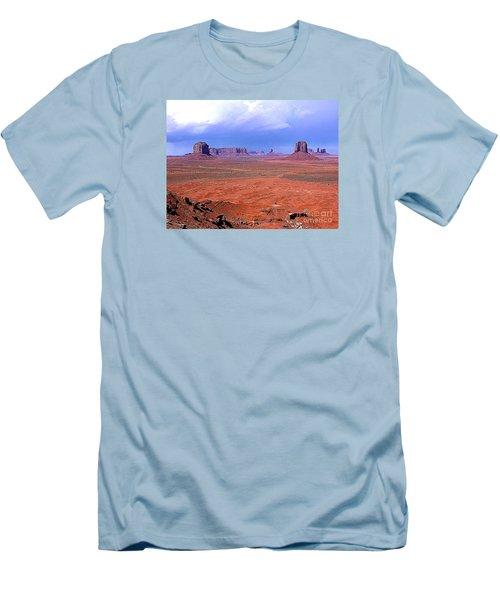 Monument Valley Panorama Landscape Men's T-Shirt (Slim Fit) by Merton Allen