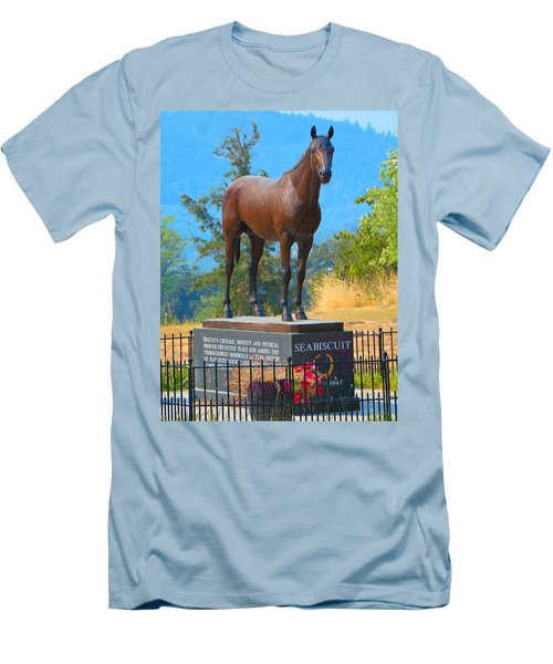 Monument To Seabiscuit Men's T-Shirt (Athletic Fit)