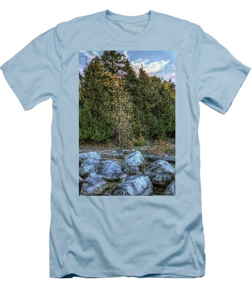 Moonlight Bay Bedrock Beach Men's T-Shirt (Athletic Fit)
