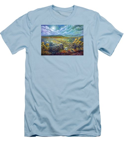 Moonlight Rendezvous Men's T-Shirt (Slim Fit) by Retta Stephenson