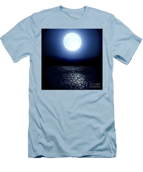 Men's T-Shirt (Slim Fit) featuring the photograph Moonlight by Tatsuya Atarashi