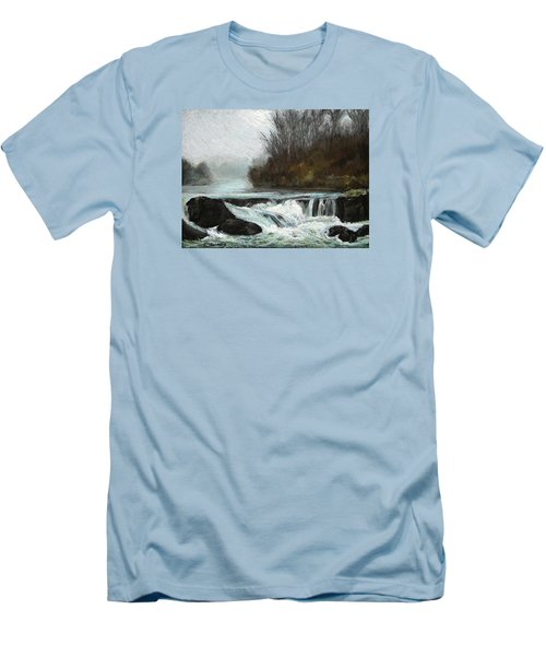 Men's T-Shirt (Slim Fit) featuring the painting Moonlit Serenity by Marna Edwards Flavell