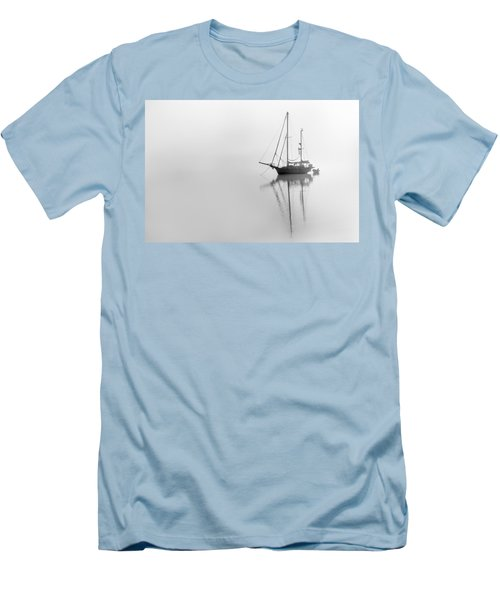 Moored On A Foggy Day Men's T-Shirt (Athletic Fit)