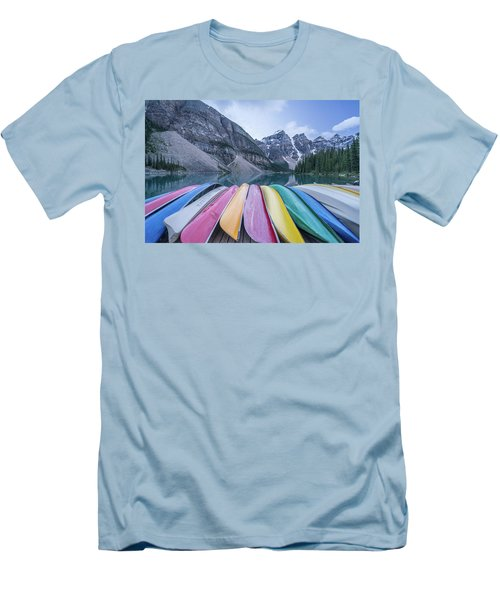 Moraine Lake Colors Men's T-Shirt (Athletic Fit)