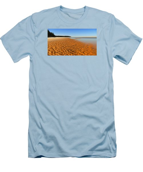 Men's T-Shirt (Slim Fit) featuring the photograph More Sand 01 by Kevin Chippindall