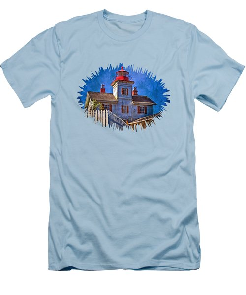 Morning At The Yaquina Bay Lighthouse Men's T-Shirt (Slim Fit) by Thom Zehrfeld