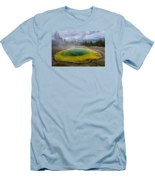 Men's T-Shirt (Slim Fit) featuring the photograph Morning Glory Pool by Gary Lengyel