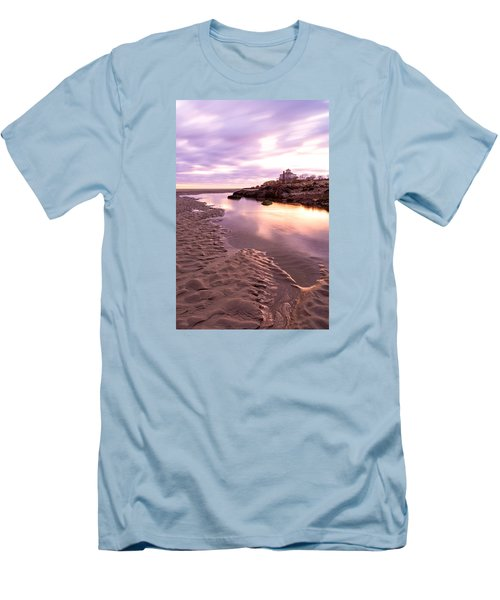 Morning Glow Good Harbor Men's T-Shirt (Slim Fit) by Michael Hubley
