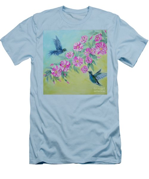 Morning In My Garden. Special Collection For Your Home Men's T-Shirt (Slim Fit) by Oksana Semenchenko