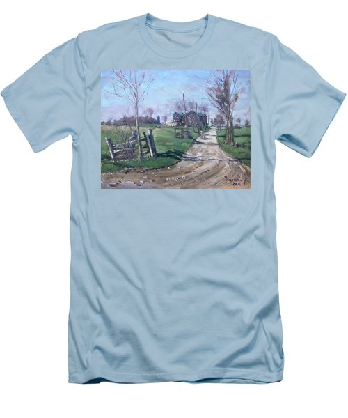 Morning In The Farm Georgetown Men's T-Shirt (Athletic Fit)
