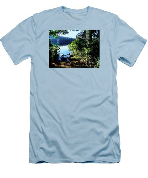 Morning Kayak Solitude Men's T-Shirt (Athletic Fit)