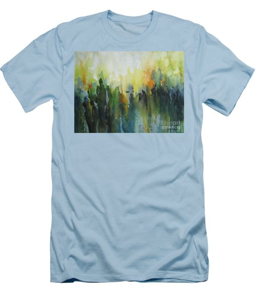 Men's T-Shirt (Slim Fit) featuring the painting Morning Light by Elena Oleniuc