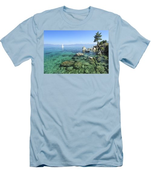 Men's T-Shirt (Athletic Fit) featuring the photograph Morning On The Water by Sean Sarsfield