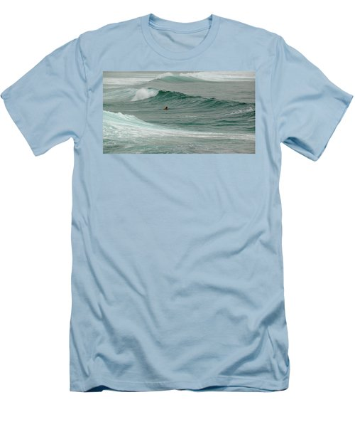Morning Ride Men's T-Shirt (Slim Fit) by Evelyn Tambour