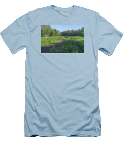 Morning Walk At Langwater Farm Men's T-Shirt (Athletic Fit)
