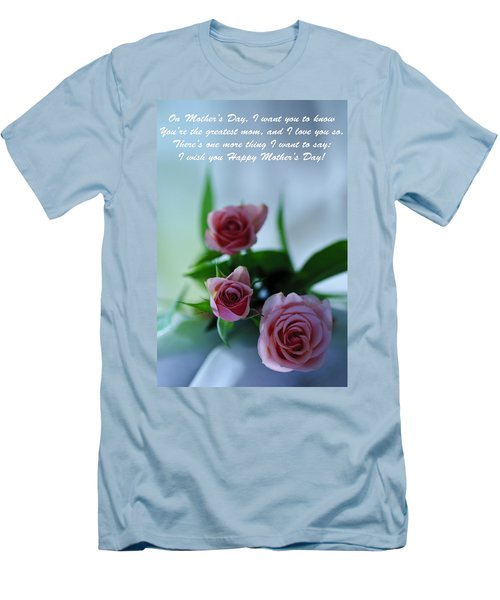 Men's T-Shirt (Slim Fit) featuring the photograph Mother's Day Card 1 by Michael Cummings