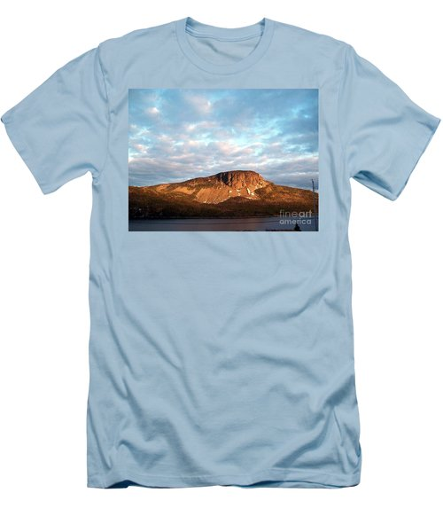 Men's T-Shirt (Slim Fit) featuring the photograph Mottled Sky Of Late Spring by Barbara Griffin