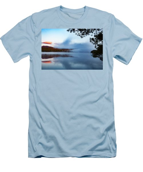 Men's T-Shirt (Athletic Fit) featuring the photograph Mount Chocorua Peeks Above The Fog by Jeff Folger