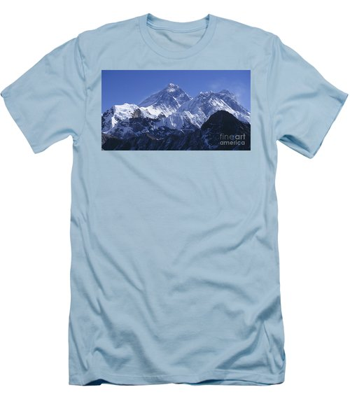 Mount Everest Nepal Men's T-Shirt (Slim Fit) by Rudi Prott